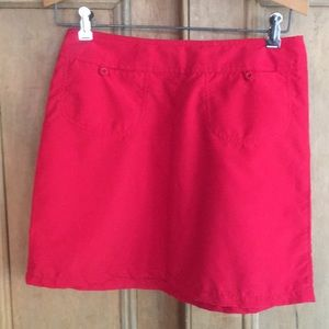 Red mini skirt by Watergirl . Made in USA